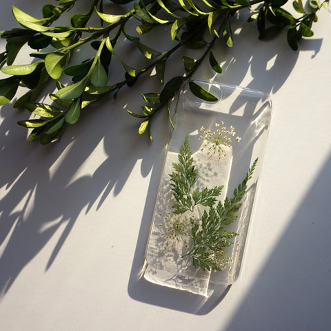 iPhone X Case Clear, Slim iPhone 8 Case, iPhone 8 Plus Case Floral, Pressed Flower Phone Cover, Phone Case 7 Plus 6s Plus 6 Plus 5s 5 SE 5c