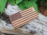 Wood USA Flag iPhone Case Spocket App