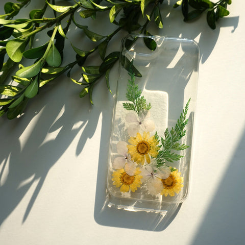 iPhone X Case Clear, Colorful iPhone 8 Case, iPhone 8 Plus Case Floral, Phone Case with Grip, Pressed Flower iPhone Case Cover 7 6 s 5s 5 SE