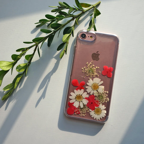 iPhone 6 Phone Case, iPhone 5c Phone Case, iPhone 5s Phone Case, iPhone 6 Plus Cover, Samsung Galaxy S5 Phone Case, Clear iPhone Case Flower