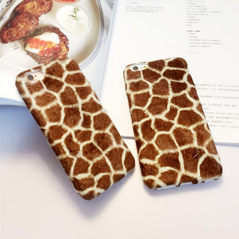 Plush Giraffe Pattern iPhone Case