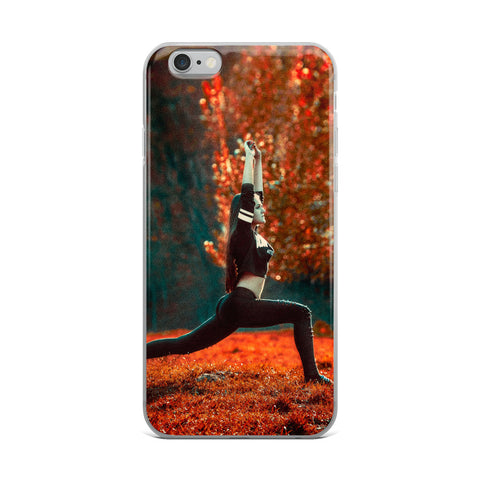 Outdoor yoga custom iPhone Case
