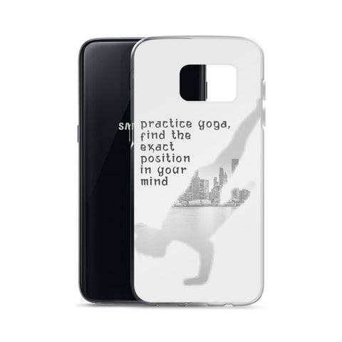 Yoga in New York in grey color Samsung Case