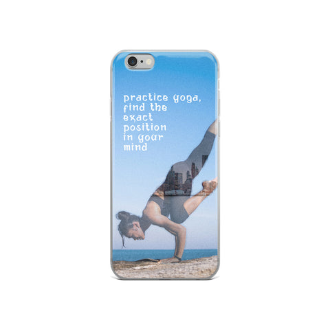 Yoga in New York iPhone Case