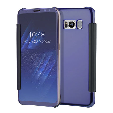 S8 Plus Luxury Plating Mirror Case for Samsung Galaxy S8 S8 Plus Cover Ultra thin Clear ELectroplating Mirror Phone Cases Shell