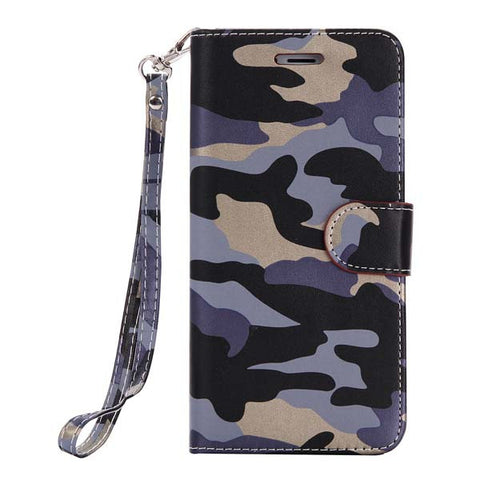 Fashion Army Camo Camouflage Case For iphone 6 6s Coque Luxury Leather Flip Wallet Phone Bags For Apple iphone 7 6 6S Plus 5 5s