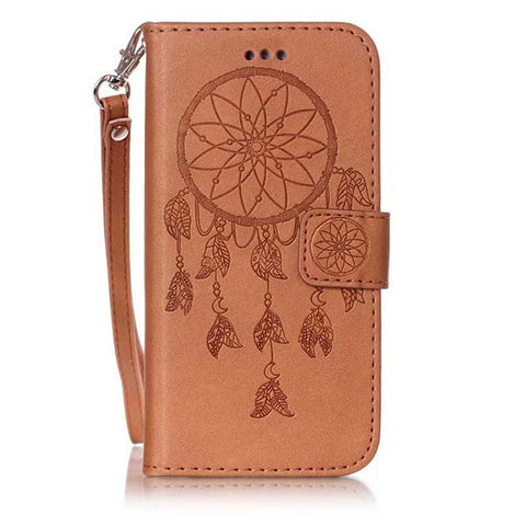 Dreamcatcher Vintage Flip Leather Case For Samsung Galaxy  S7 S6 edge A3 A5 J3 J5 J7 2016 S5 S4 S3 mini Grand Prime Cover Funda