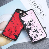 Bling Glitter Love Heart Phone Cases For Iphone 7 6 6S Plus Case Fashion Dynamic Quicksand Back Cover High Quality Hard PC Funda