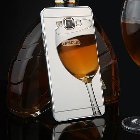 G530 Luxury Mirror 2 in 1 Case Plating Armor Aluminum Bumper Frame + Mirror Acrylic Cases For Samsung Galaxy G5308 G530H G5308W