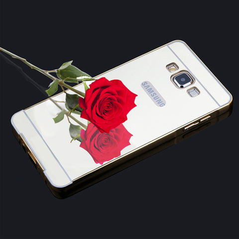 Luxury G530 Mirror Case 2 in 1 Plating Bumper Acrylic Mirror Back Cover Funda for Samsung galaxy Grand Prime G5308 G530H G5308W