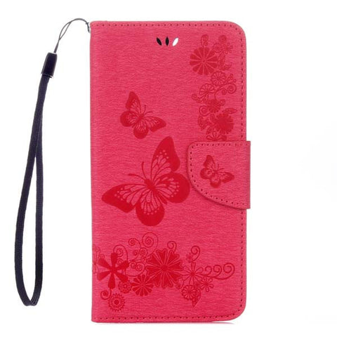 Phone Cases For Apple iphone 7 7 Plus Fundas Butterfly Pattern Leather Flip Case Multifuntion Card Slot Wallet Stand Holder Capa