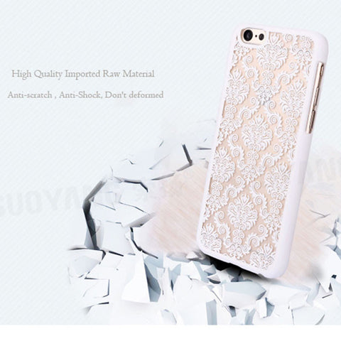 Retro Palace Flower Case For iPhone 7 Plus Cover Vintage Print Pattern Henna Floral Paisley Flower Shell Phone Cases Funda Coque