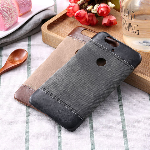 Vintage PU Leather Jean Denim Case For Nexus 6P Nexus 5 Cover Cowboy Man Canvas Hard PC Phone Cases Protector Business Style New