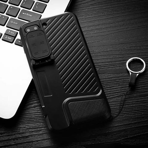 Shockproof Armor Case For iphone 7 Plus Cover 6 in 1 Wide Angle Fish Eye Macro Telephoto 360 Rotation Camera Lens Phone Cases