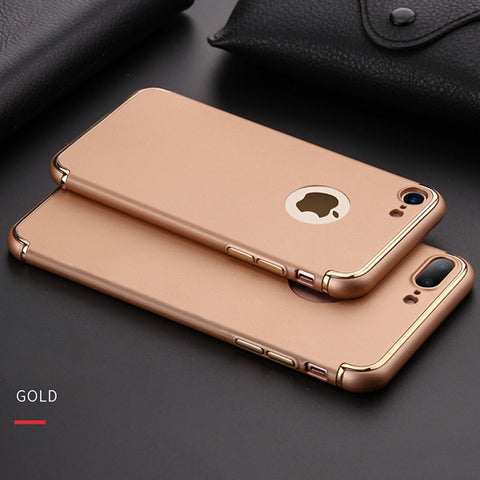 Luxury Plating Shockproof Armor Case for iphone 7 6 6s Plus Cover Fashion Ultra Thin Hard Phone Cases Shell Capa Carcasas Fundas