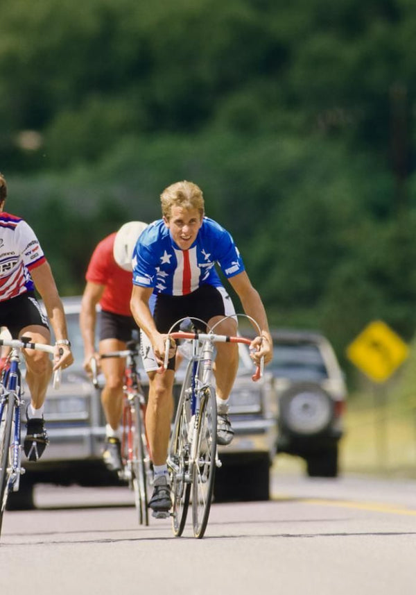 Greg Lemond winning the 1989 world championship