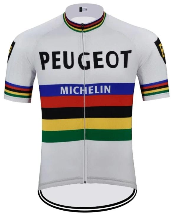 Peugeot World Champion 1966 vintage cycling jersey short sleeve