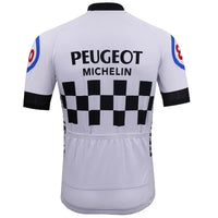 Peugeot short sleeve cycling jersey replica 1981