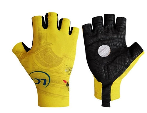 Tour de France Yellow cycling gloves