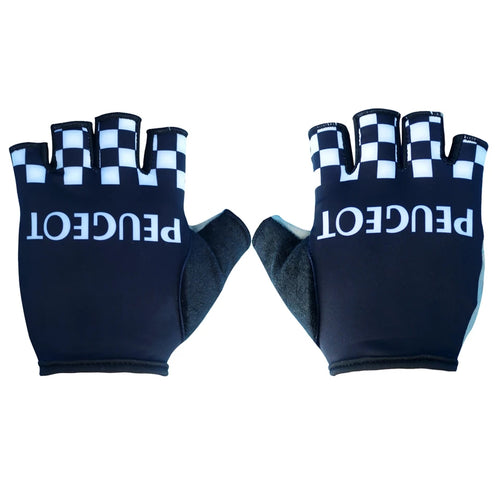 Peugeot black cycling gloves