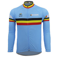 Belgium Team cycling jersey long sleeves thermal fleece