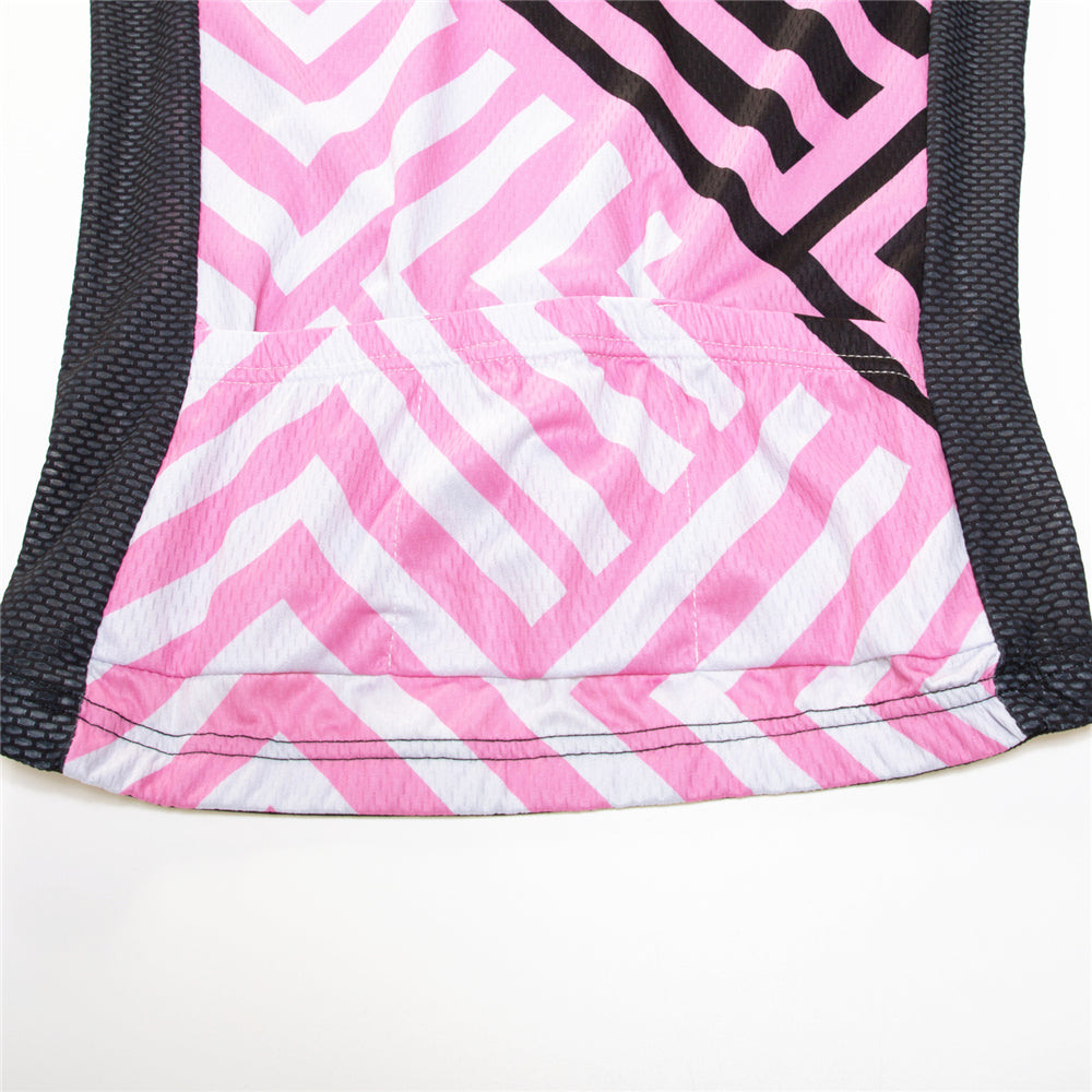 Pink cycling jersey set