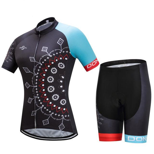 women cycling suit