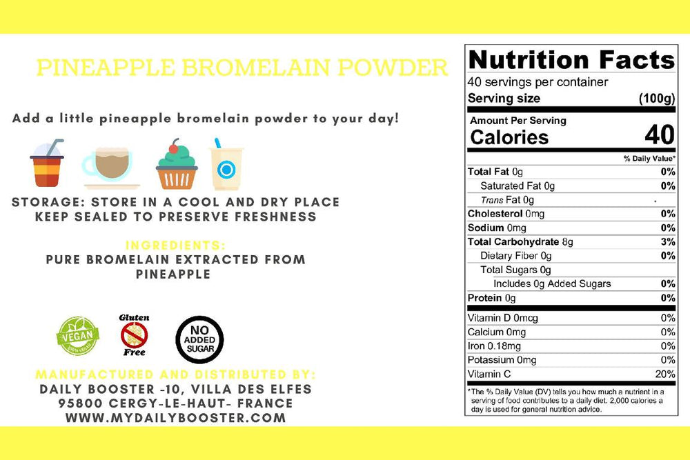 PINEAPPLE BROMELAIN POWDER 100g: health booster and treats digestive disorder