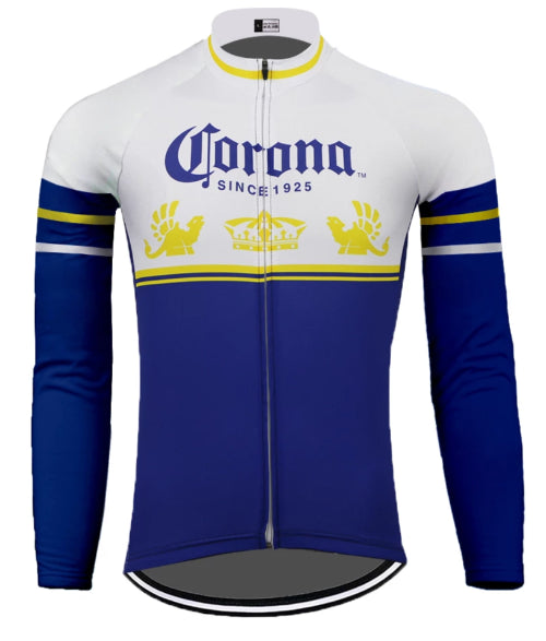 Corona retro cycling jersey long sleeve