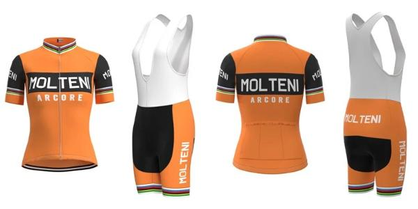 Retro Molteni Arcore women cycling set