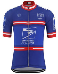 US Postal vintage short sleeve cycling jersey replica