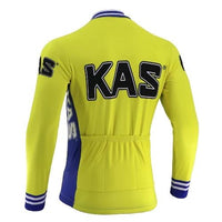 Kas retro cycling jersey long sleeve