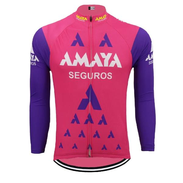 Amaya Seguros vintage cycling jersey  long sleeve