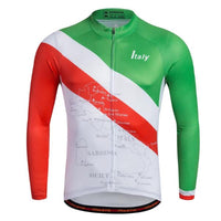 Great Britain/ Italia vintage cycling jersey long sleeve