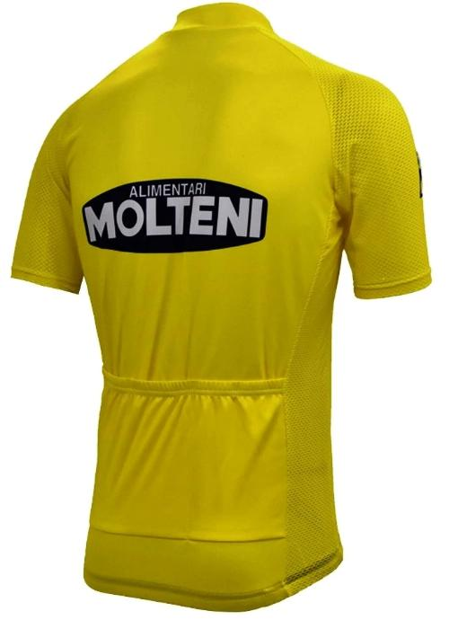 Molteni Yellow vintage cycling jersey Tour de France Eddy Merckx