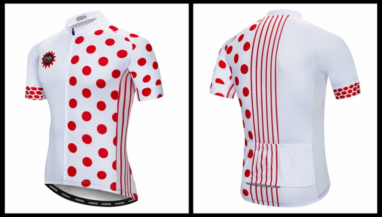 Red dots cycling jersey