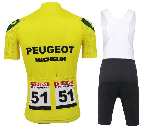 Tour de France Peugeot 75 Yellow jersey cycling set Thevenet