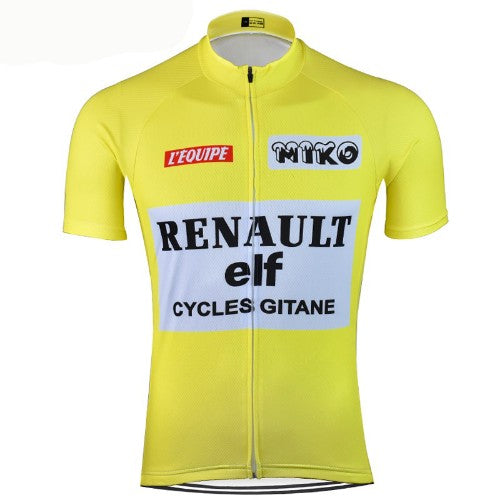 Yellow Vintage cycling jersey Tour de France replica 1983