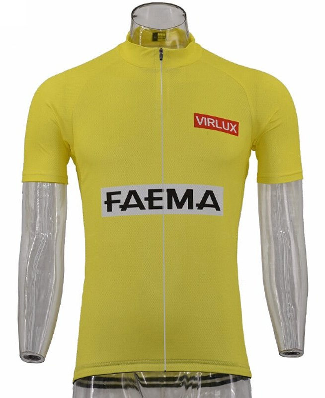 Faema retro Yellow Jersey Eddy Merckx