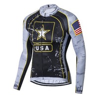 US Army long sleeve cycling jersey replica