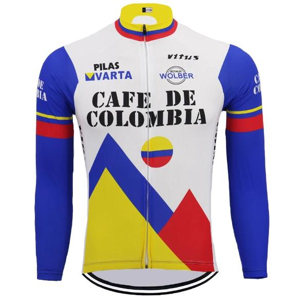 9f271a940 Cafe de Colombia vintage cycling jersey long sleeve  Cafe de colombia cycling  jersey long sleeve ...