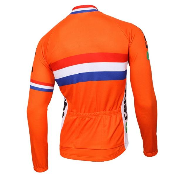 Team Netherlands cycling jersey long sleeve thermal fleece