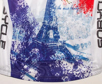 paris eiffel tower cycling jersey