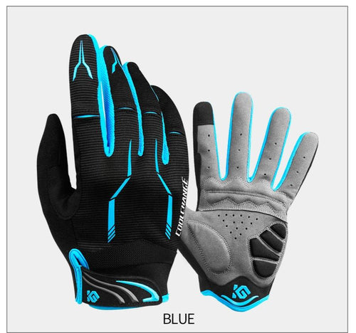 Cycling Gloves Men Sports Full Finger Anti Slip 3D Gel Pad