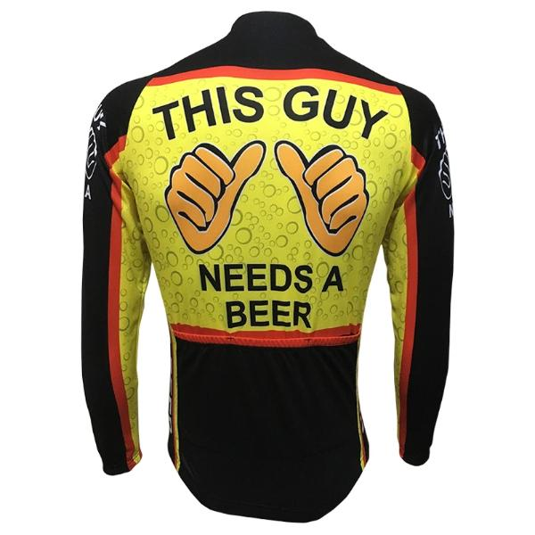 beer cycling long sleeve jersey