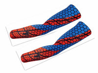 Superheroes cycling armwarmers pair