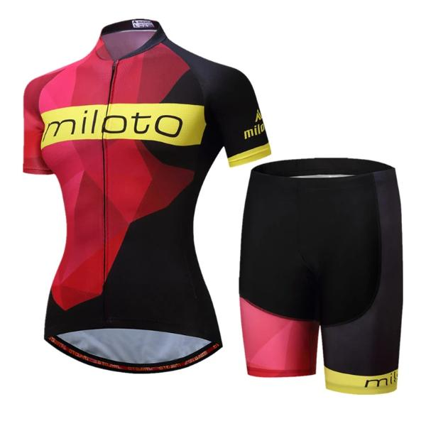Miloto team women cycling set summer