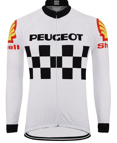 Peugeot vintage cycling long sleeve jersey
