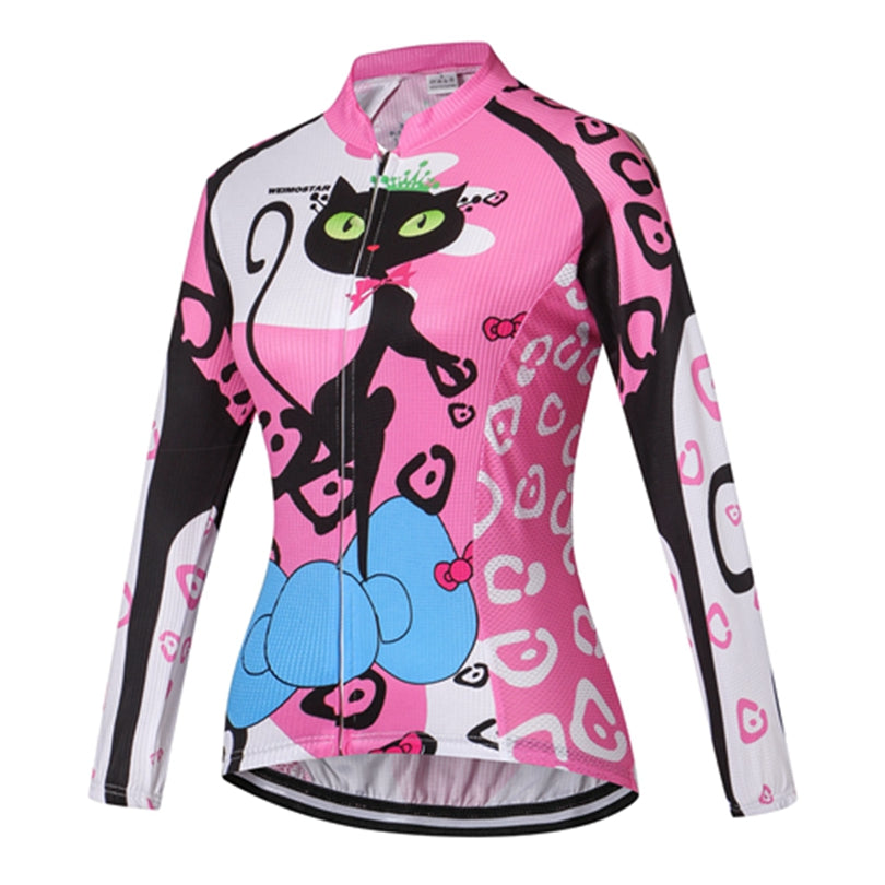 Weimostar women Long sleeve cycling jersey
