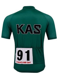 Kas green cycling jersey